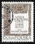 Stamps : Europe : Poland :  Marie Sklodowska Curie -Ganadora del Premio Nobel