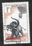 Stamps : Europe : Monaco :  427 - 5 semanas en globo, Julio Verne