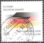 Sellos del Mundo : Europa : Alemania : 10 años de Unidad Alemana.