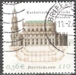 Sellos del Mundo : Europa : Alemania : 250 años Iglesia de la Corte Católica de Dresde.