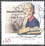 Sellos del Mundo : Europa : Alemania : 250 cumpleaños Adolph Freiherr Knigge.