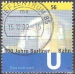 Sellos del Mundo : Europa : Alemania : 100 años del metro de Berlín.