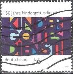 Sellos del Mundo : Europa : Alemania : 150 años de servicio diario para niños.