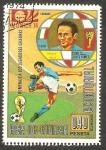 Stamps : Africa : Equatorial_Guinea :  39 - Mundial de fútbol Munich 74, Piola jugador italiano