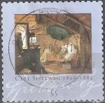 Sellos de Europa - Alemania -  200 aniv del nacimiento de Carl Spitzweg,Pintor.