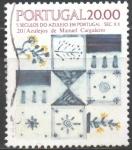 Sellos de Europa - Portugal -  AZULEJOS.  DISEÑOS  GEOMETRICOS  Y  FLORES  DE  MANUEL  CARGALEIRO.