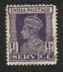Stamps India -  King George V - Oficial