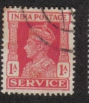 Stamps India -  King George VI - Official