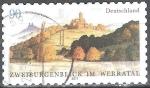 Sellos de Europa - Alemania -  Dos castillos con vistas el de Ludwigstein (Hessia) y la ruina del castillo Hanstein (Thuring).