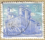 Sellos de Europa - España -  Castillos de España - Olite en Navarra