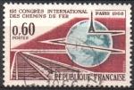 Sellos de Europa - Francia -  PISTAS  GLOBO  Y  TORRE  EIFFEL