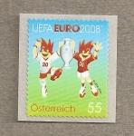 Sellos de Europa - Austria -  Campeonato Europeo futbol UEFA