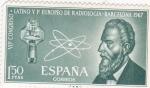 Stamps : Europe : Spain :  VII CONGRESO RADIOLOGIA -BARCELONA(30)