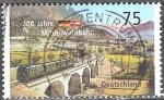 Sellos de Europa - Alemania -  Centenario del ferrocarril de Mittenwald.