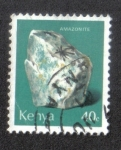 Stamps Kenya -  Amazonite