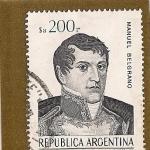 Stamps Argentina -  Gral. Manuel Belgrano