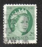 Sellos de America - Canadá -  Reina Isabel II Definitivos 1954-62 - Retrato salvaje