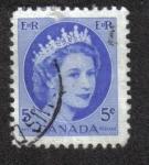 Sellos del Mundo : America : Canadá : Reina Isabel II Definitivos 1954-62 - Retrato salvaje