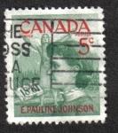 Sellos del Mundo : America : Canadá : Centenario de nacimiento de E. Pauline Johnson (poetisa Mohawk)