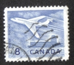 Stamps Canada -  Jet Airliner sobre Ottawa