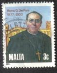 Sellos del Mundo : Europa : Malta : 50 aniversario de la muerte de Monseñor Giuseppe de Piro