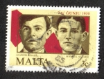 Sellos del Mundo : Europa : Malta : 66th Anniv. del 7 de junio de 1919 Demostraciones