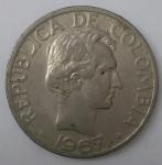 monedas de America - Colombia -  1967 - 50 centavos