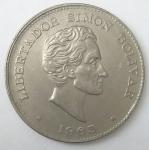 monedas de America - Colombia -  1965 error- 50 centavos