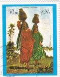 Stamps United Arab Emirates -  COSTUMBRES ORIENTALES