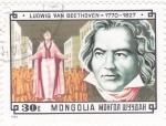 Sellos del Mundo : Asia : Mongolia : LUDWIG VAN BEETHOVEN