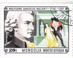 Stamps : Asia : Mongolia :  WOLFGANG AMADEUS MOZART