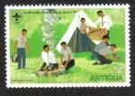 Sellos de America - Antigua y Barbuda -  Caribbean boy scout jamboree, Jamaica