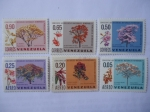 Stamps : America : Venezuela :  flora de Venezuela - Amapates, Cañaguates y Araguaney