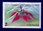 sello : America : Granada : Poisettia
