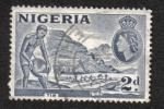 Sellos de Africa - Nigeria -  Motivos del país