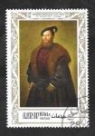Stamps United Arab Emirates -  Ajman - 95 D - Cuadro italiano, retrato de Tiziano
