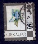 sello : Europa : Gibraltar : Flor