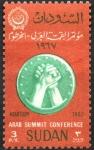 Stamps Sudan -  LIGA  ARABE  Y  MANOS  JUNTAS