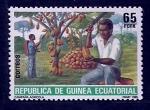 sello : Africa : Guinea_Ecuatorial : Campaña Agricola (Cacao)