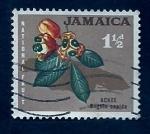 sello : America : Jamaica : Flores