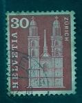 Sellos del Mundo : Europa : Suiza : Catedral de Zurich