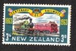 Sellos de Oceania - Nueva Zelanda -  100 años de ferrocarriles de Nueva Zelanda