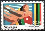 Sellos de America - Nicaragua -  ATLANTA  1996  LANZAMIENTO  DE  JABALINA