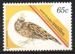 Sellos de America - Antillas Neerlandesas -  PROTECCION  CONTRA  LOS  ANIMALES,  CODORNIZ  CON  CRESTA.