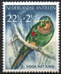 Stamps Netherlands Antilles -  AVES,  PERICO  DE  GARGANTA  MARRON.