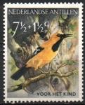 Stamps Netherlands Antilles -  AVES,  OROPENDOLA  AMARILLA.