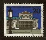 Sellos del Mundo : Europa : Alemania : Teatro nacional Munich