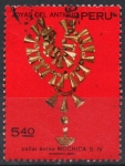 Stamps of the world : Peru :  COLLAR  AUREO  MOCHICA  DEL  SIGLO IV
