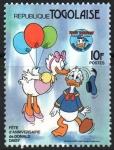 Stamps : Africa : Togo :  50th  ANIVERSARIO  DEL  PATO  DONALD,  LA  PATA  DAISY  Y  DONALD.