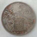 monedas de Europa - España -  1957 - 5 pesetas